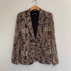 The Kooples Animal Print Blazer